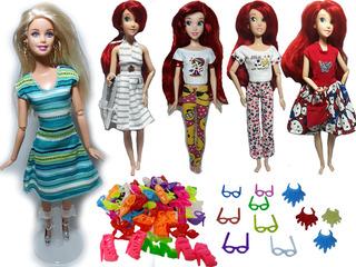 10 Ropitas De Barbie + 6 Collares + 4 Lentes + Envío