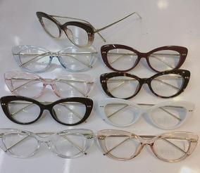 a51e867b9 Oculos De Grau Gatinho Chanel - Óculos Bege no Mercado Livre Brasil