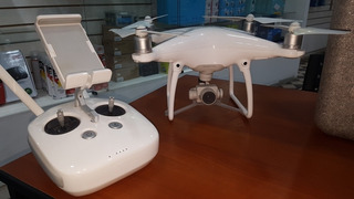 Drone Phantom 4 Excelente Estado 3 Baterias+balija+ Mochila