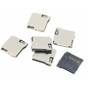 5 Peças Conector Micro Sd Alojamento Para Pcb 9 Vias