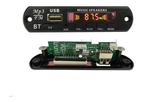 Placa Para Amplificador Modulo Usb Mp3 Player Bluetooth
