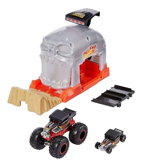 Hot Whells Monster Truck Lançadores Radicais - Bone Shaker
