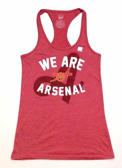 Musculosa Deportiva Mujer Arsenal Fc Inglaterra Usa Talle Xl