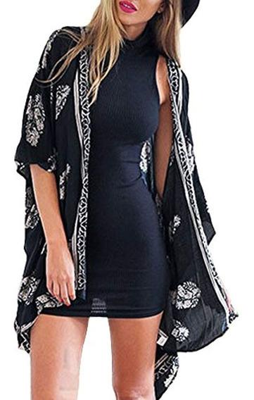 Camisunny Mujeres Kimono Cardigan Coat Floral