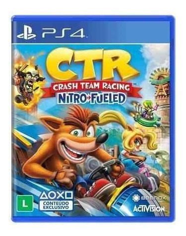 Crash Team Racing Nitro Fueled - Ps4 Mídia Física Lacrado