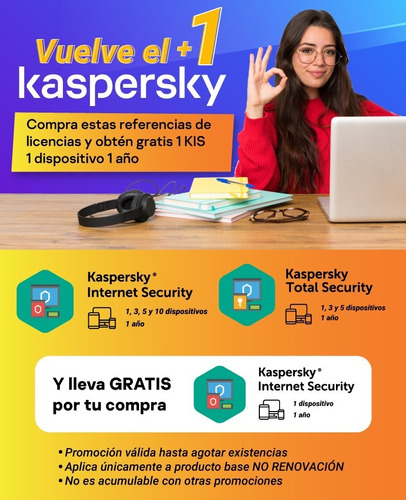 Licencia Kaspersky Internet Security 1 Pc 1 Año