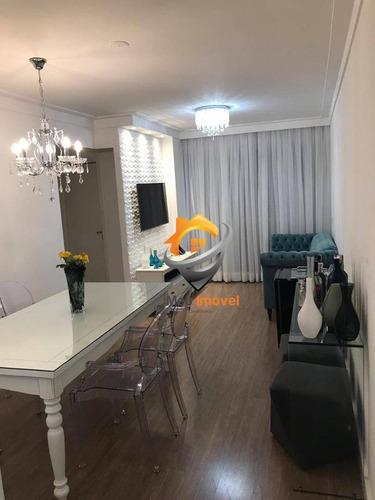 Apartamento Impecável Com 3 Dormitórios À Venda, 74 M² Por R$ 450.000 - Casa Verde - São Paulo/sp - Ap0164