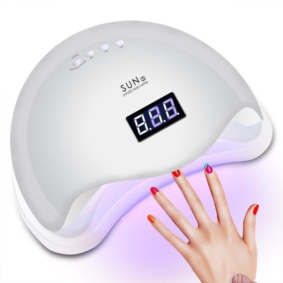 Cabina Sun 5 48w Uv- Led Sensor Automático Manicuria Blanca