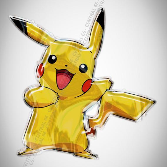 Adesivo Desenho Pokemon Pikachu Resinado