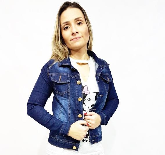 Jaqueta Jeans Feminina Com Lycra
