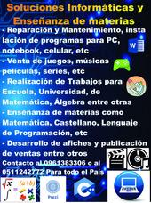 Soluciones Informáticas Y Enseñanza De Materias.