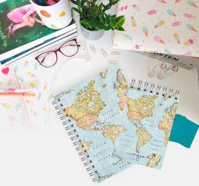 Conjuntinho Caderno + Bloquinho De Viagem
