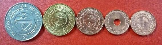 Filipinas Set De 5 Monedas 2007 - 2009 Unc Sin Circular