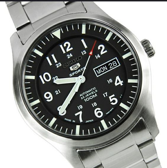 Relógio Seiko Estilo Militar Aço