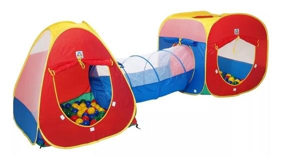 Toca Barraca Infantil 3 Em 1 Com Tunel + Melhor Preço