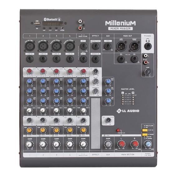 Mesa De Som 6 Canais C/ Usb/sd Bluetooth Mx602r - Ll Audio