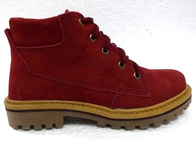 Bota Bella Boots 0701 (f) Vermelho/nobuck