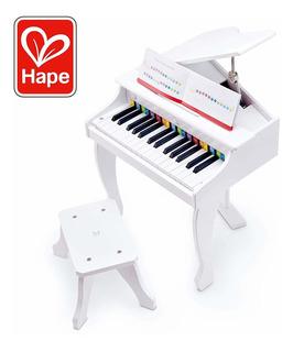 Piano De Cola Blanco De Lujo   Juguete De Piano De Trei...