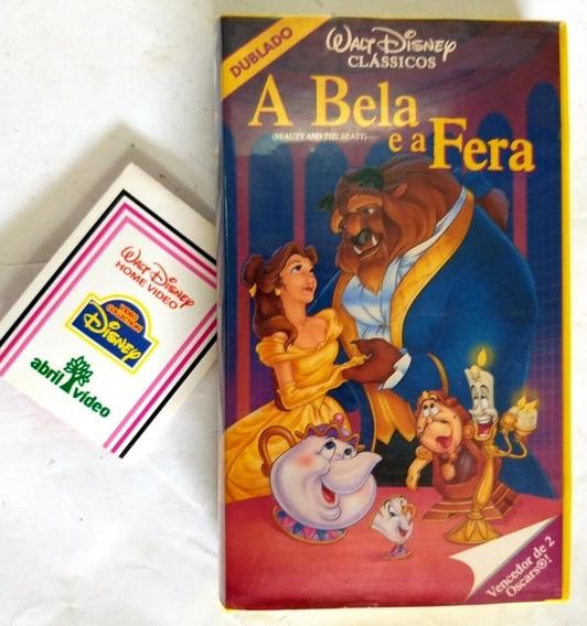 Vhs A Bela E A Fera Filme Walt Disney Dublado - Impecavel