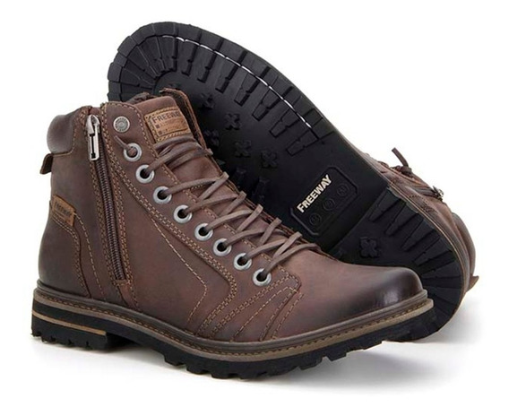 Bota Masculina Freeway Absolut1 3156 Couro Chocolate