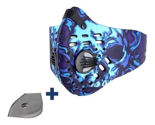 Mascara Antipolución Con Filtro Instalado Y De Repuesto