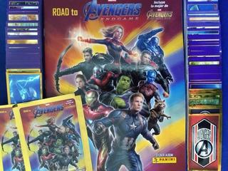 Endgame Set Completo Avengers Panini Álbum Tapa Blanda Grati