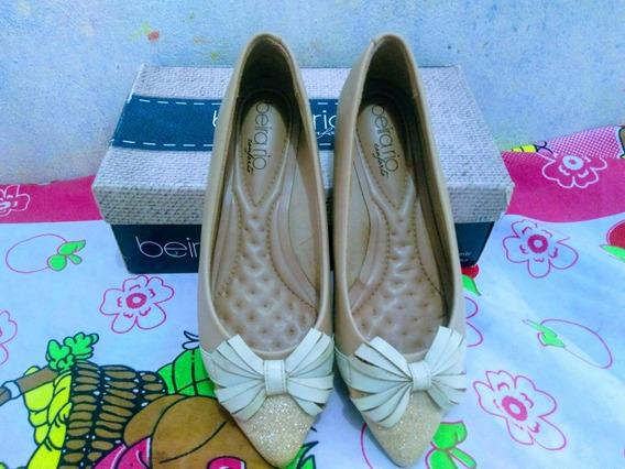 Sapato Beira Rio Rosa Nude De R$86,00 Por Apenas R$50,00