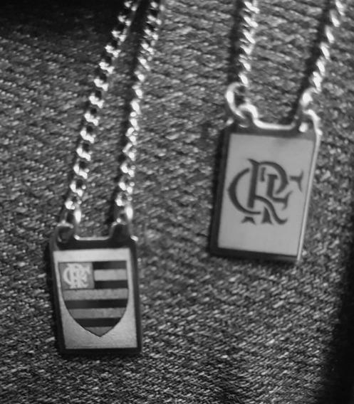 Escapulario Flamengo / Simbolo Crf Em Aço