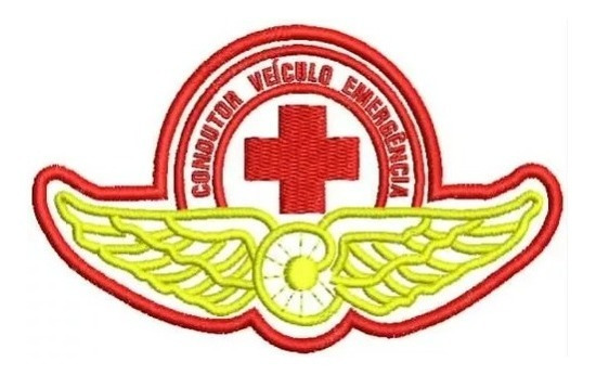 Patch Bordado Condutor Veículo Emergência Tarja Termocolante