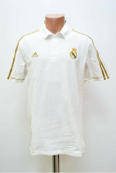 Real Madrid, adidas, Playera Tipo Polo Dorada Talla Grande