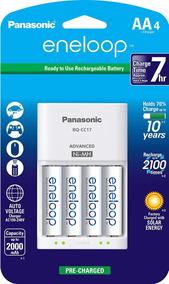 Carregador Panasonic Eneloop + 4 Pilhas Aa - Bq-cc17