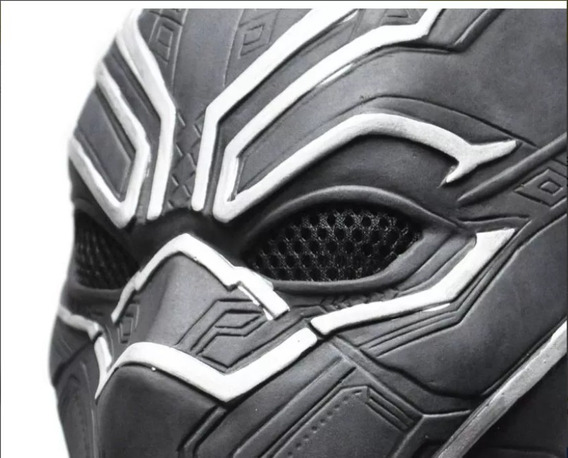 Kit Mascara Pantera Negra + Colar Guerra Infinita Vingadores