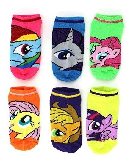 Calcetines My Little Pony Para Niñas Paquete 6 Pares