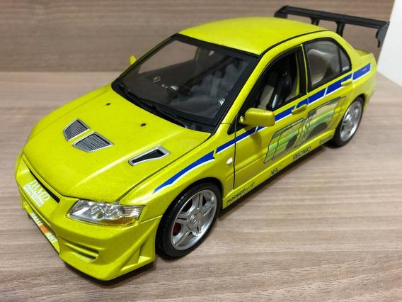 Miniatura Velozes Furiosos Mitsubishi Lancer Evolution 1:18