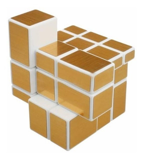 Cubo Rubik Mirror Shengshou 3x3x3 Blanco / Dorado