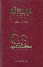 Bíblia Comemorativa 60 Anos Da Igreja Do Nazareno - Vinho