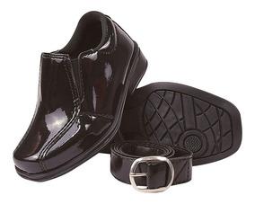 Sapato Social Infantil Verniz Masculino Liso 20/27