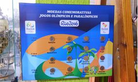 Quadro Da Coleção De Moedas Das Olimpíadas 2016 Do Brasil