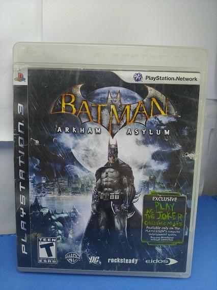 Jogo Batman Arkham Asylum Ps3 Sem Juros
