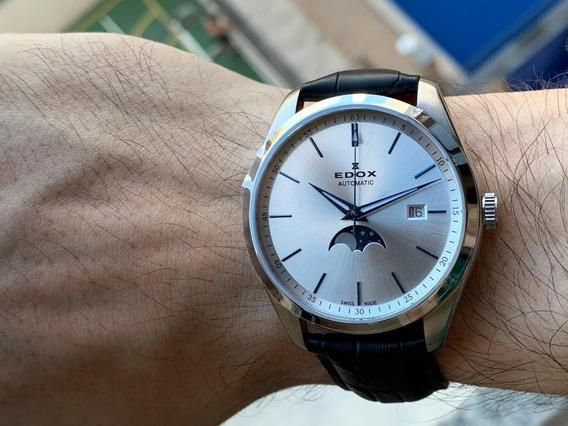 Relógio Edox Les Vauberts Moonphase Automatic 80505-3-aibu