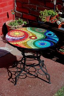 Ceramica Mesa De Terraza Fierro Hogar Y Muebles En Mercado