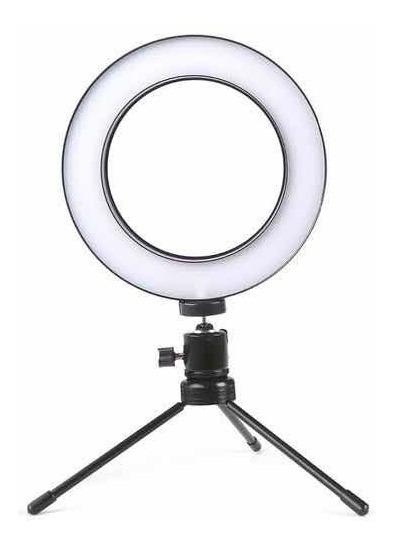 Iluminador Ring Light 16cm Usb Led Misto 5500k + Tripe