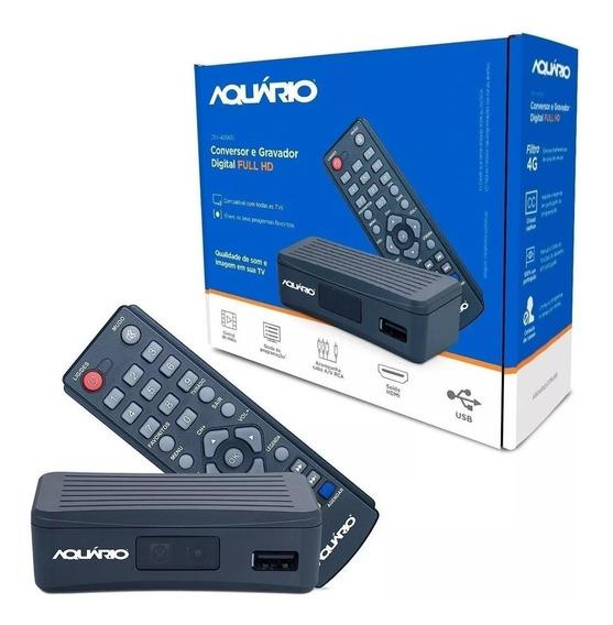 Mini Conversor Digital Aquario De Tv Full Hd Dtv-4000