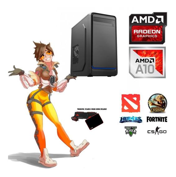 Computador Pc Gamer A10 C/ Radeon R7 8gb Ram Moba Edition