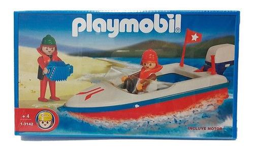 Imagen 1 de 2 de Playmobil Lancha Con Motor 3142