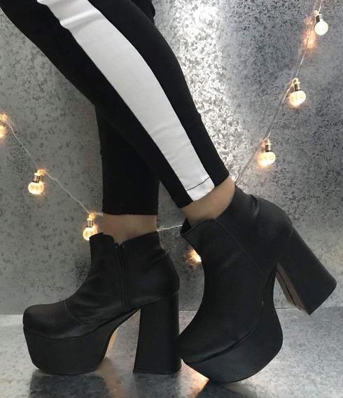 Zapato Con Plataforma Negro