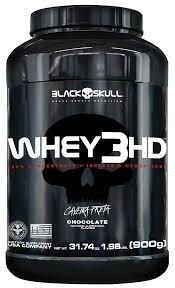2 Potes De Whey 3hd Black Skull 900g Cada Total De 1,8g