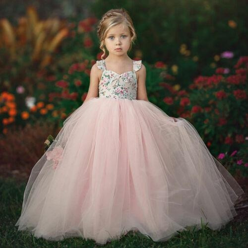 Pink - 1-2 Years - Bebé Niñas Princesstulle Tutu Vestid-7960