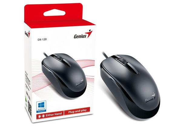 Mouse Genius Dx-120 Usb Preto 1200 Dpi Oferta Kit 10 Peças