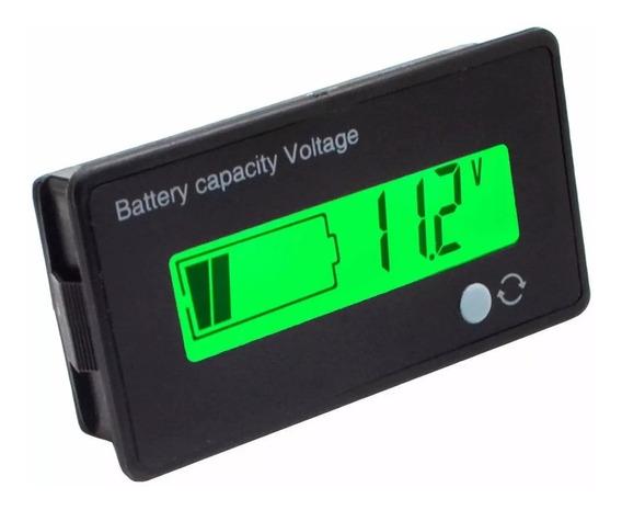 Medidor De Bateria 12v Porcentagem Moto Carro Voltímetro Lcd